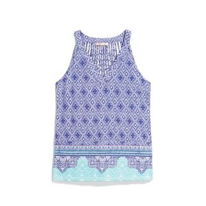 SKIES ARE BLUE Edgar Border Print Knit Top